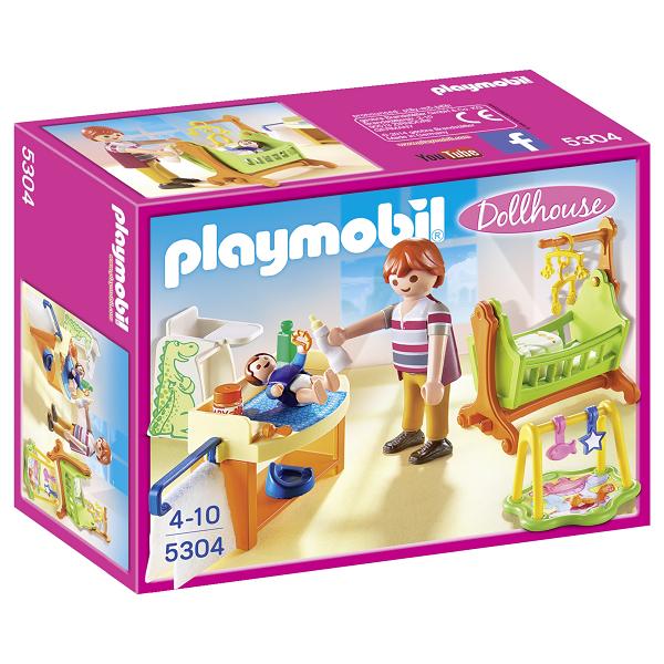 Image of Babyværelse med vugge - 5304 - PLAYMOBIL Dollhouse (PL5304)
