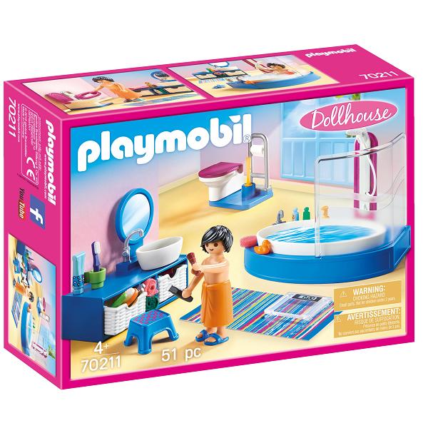 Image of   Badeværelse - PL70211 - PLAYMOBIL Dollhouse