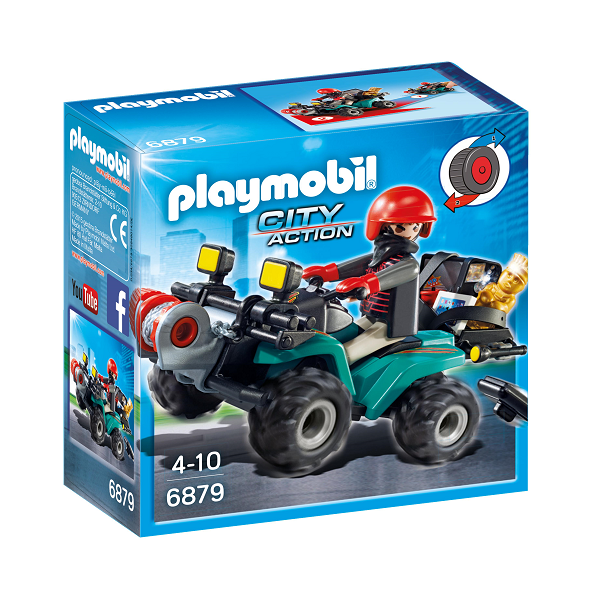 Image of   Bandit på ATV med spil - PL6879 - Playmobil City Action