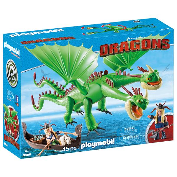 Image of   Benknold og Stenknold med Bøvs og Bræk - 9458 - PLAYMOBIL Dragons