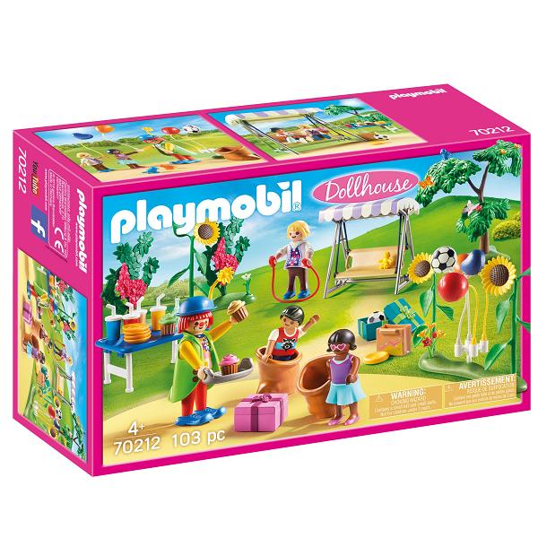 Image of Børnefødselsdag med klovn - PL70212 - PLAYMOBIL Dollhouse (PL70212)