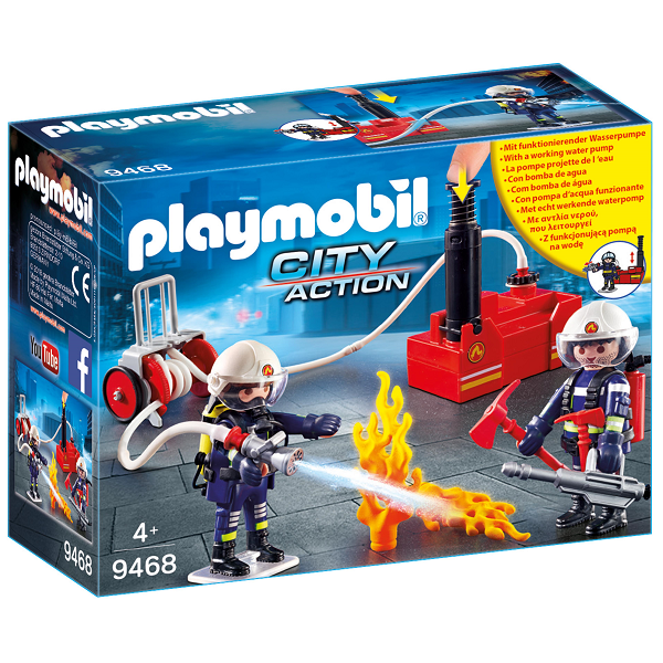 Image of Brandmænd med vandpumpe - 9468 - PLAYMOBIL City Action (PL9468)