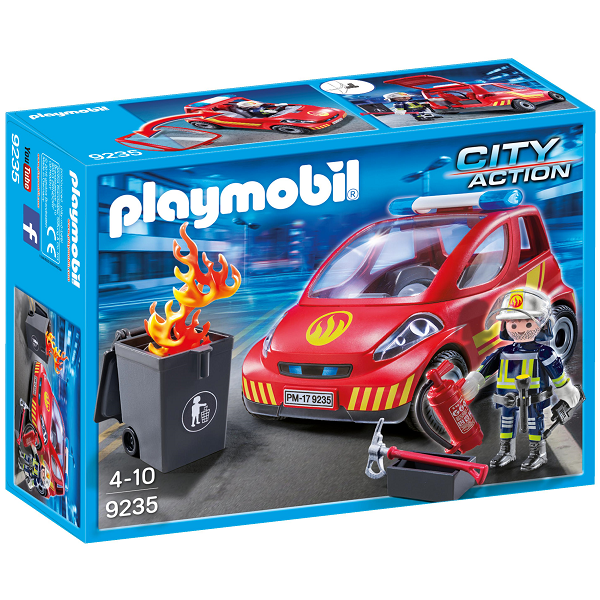 Image of Brandmand med bil - PL9235 - PLAYMOBIL City Action (PL9235)