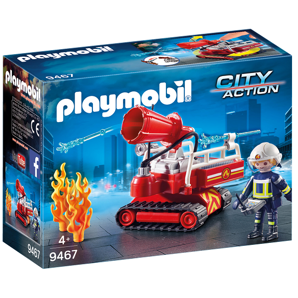 Image of Brandslukningsrobot med vand - 9467 - PLAYMOBIL City Action (PL9467)