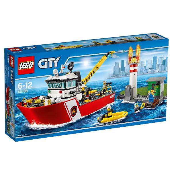 Image of   Brandvæsnets båd - 60109 - LEGO City