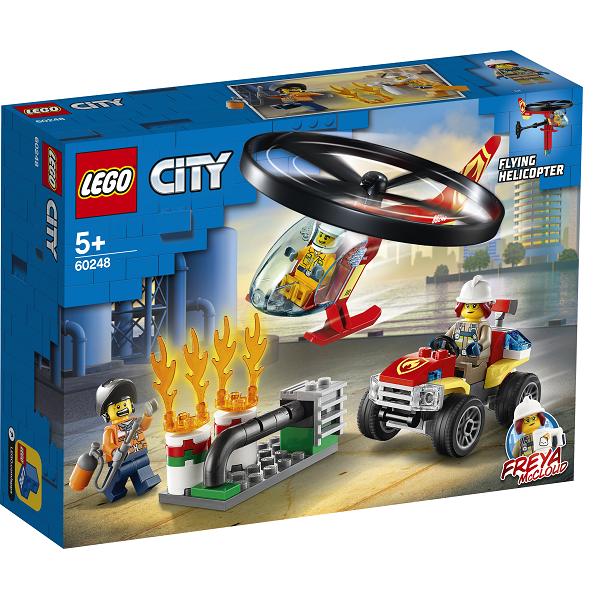 Image of   Brandvæsnets helikopterenhed - 60248 - LEGO City