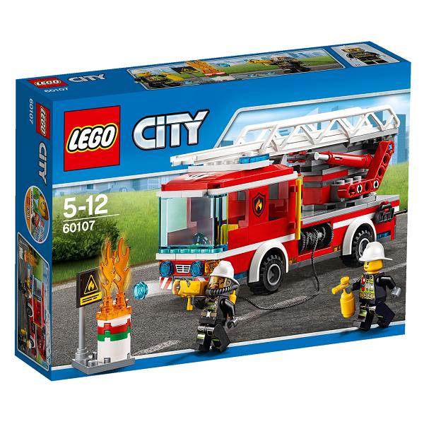 Image of   Brandvæsnets stigevogn - 60107 - LEGO City