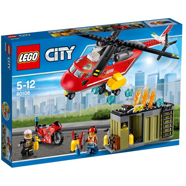 Image of   Brandvæsnets udrykningsenhed - 60108 - LEGO City