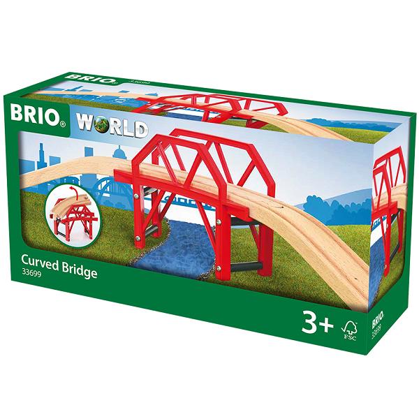 Bro med opfartsskinner - 33699 - BRIO togskinner