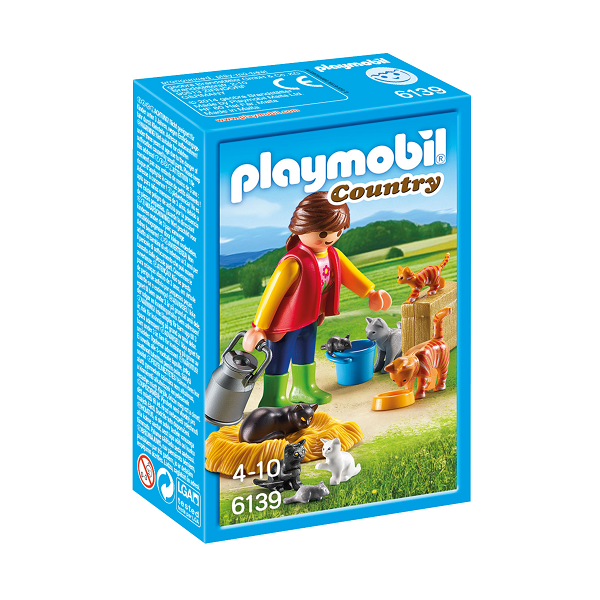 Image of Broget kattefamilie - PL6139 - PLAYMOBIL Country (PL6139)