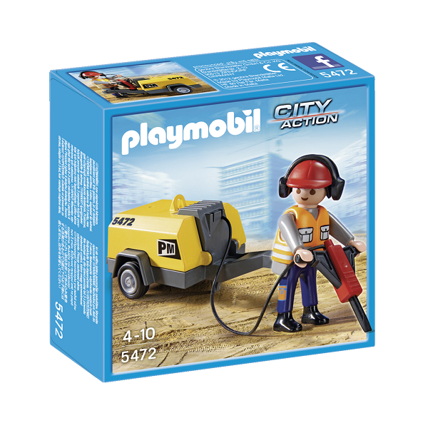 Image of Byggearbejder - 5472 - PLAYMOBIL City Action (PL5472)