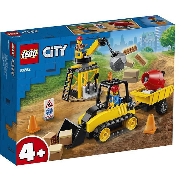 Image of   Byggeplads med bulldozer - 60252 - LEGO City