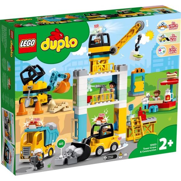 Image of Byggeplads med tårnkran - 10933 - LEGO DUPLO (10933)