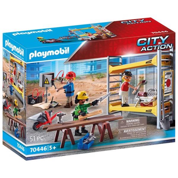 Image of Byggestillads med håndværkere - PL70446 - PLAYMOBIL City Action (PL70446)