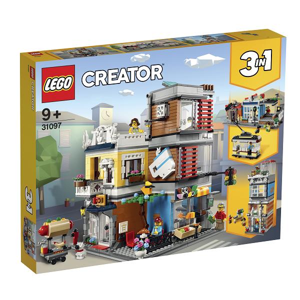 Image of Byhus med dyrehandel og café - 31097 - LEGO Creator (31097)