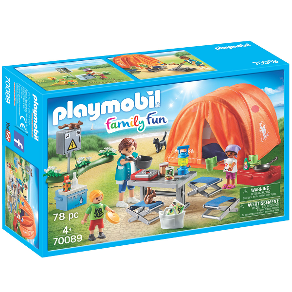 Image of Campingferie med stort telt - PL70089 - PLAYMOBIL Family Fun (PL70089)