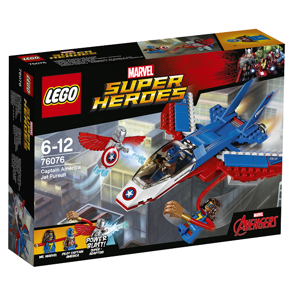 Image of Captain America jetjagt - 76076 - LEGO Super Heroes (76076)
