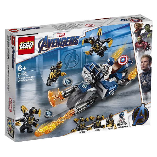 Image of Captain America: Outrider-angreb - 76123 - LEGO Super Heroes (76123)