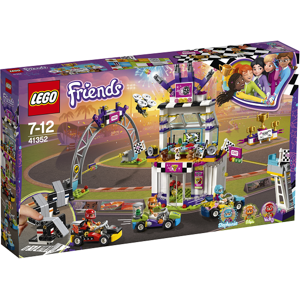 Image of   Den store racerløbsdag - 41352 - LEGO Friends