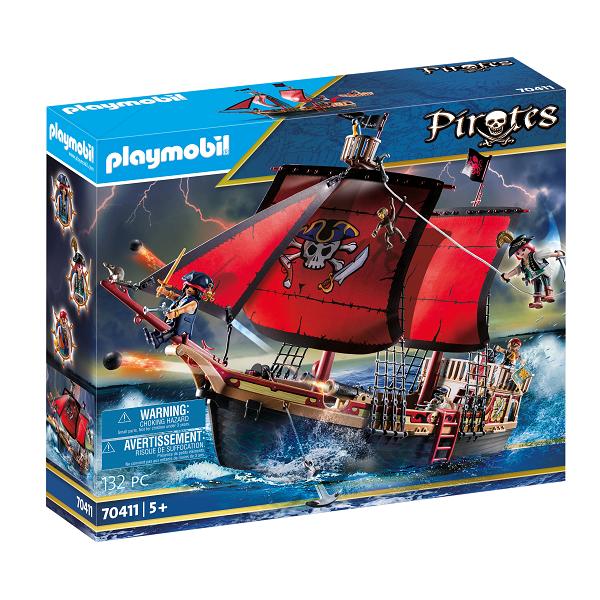 Image of Dødningehoved-kampskib - PL70411 - PLAYMOBIL Pirates (PL70411)