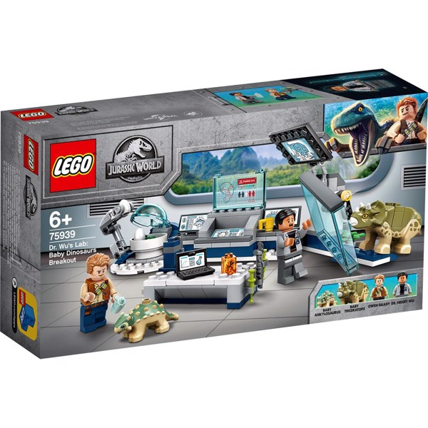 Image of Dr. Wus laboratorium: Dinosaurungernes flugt - 75939 - LEGO Jurassic World (75939)