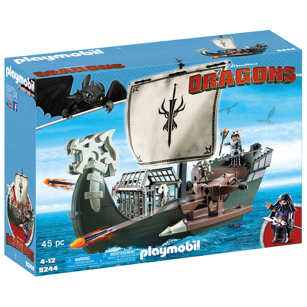 Image of Dragos skib - PL9244 - PLAYMOBIL Dragons (PL9244)