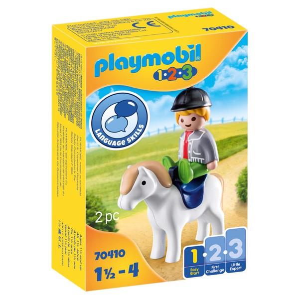Image of Dreng med pony - PL70410 - PLAYMOBIL 1.2.3 (PL70410)