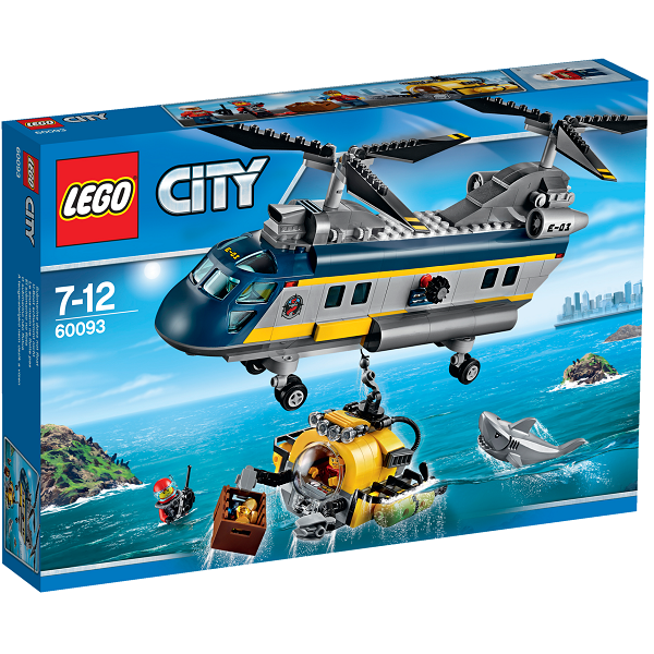 Image of Dybhavs-helikopter - 60093 - LEGO City (60093)