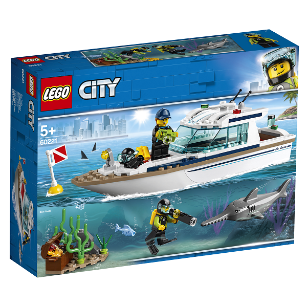 Image of Dykker-yacht - 60221 - LEGO City (60221)
