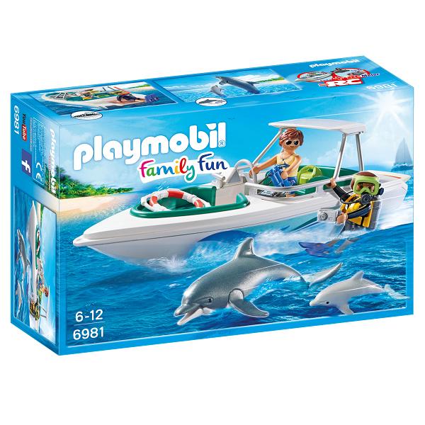 Image of Dykkertur med speedbåd - PL6981 - PLAYMOBIL Family Fun (PL6981)
