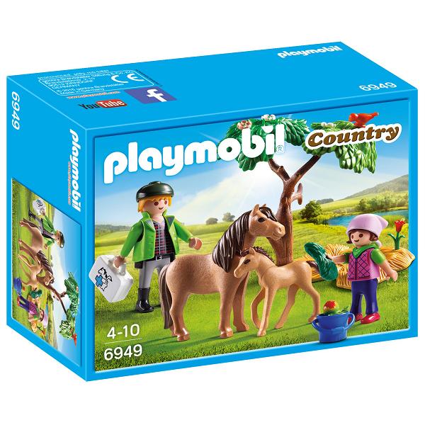 Image of Dyrlæge med ponyer - PL6949 - Playmobil Country (PL6949)