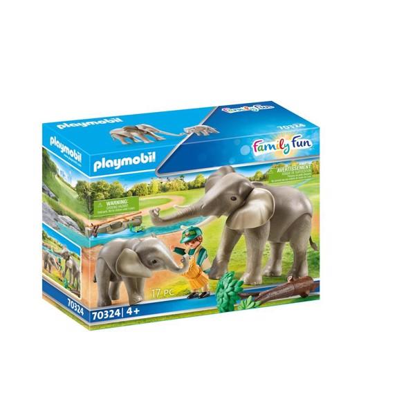 Image of Elefanter i indhegning - PL70324 - PLAYMOBIL Famlly Fun (PL70324)