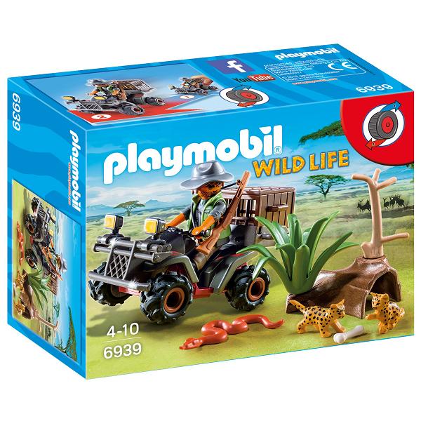 Image of En krybskytte med en ATV - PL6939 - Playmobil Wild Life (PL6939)