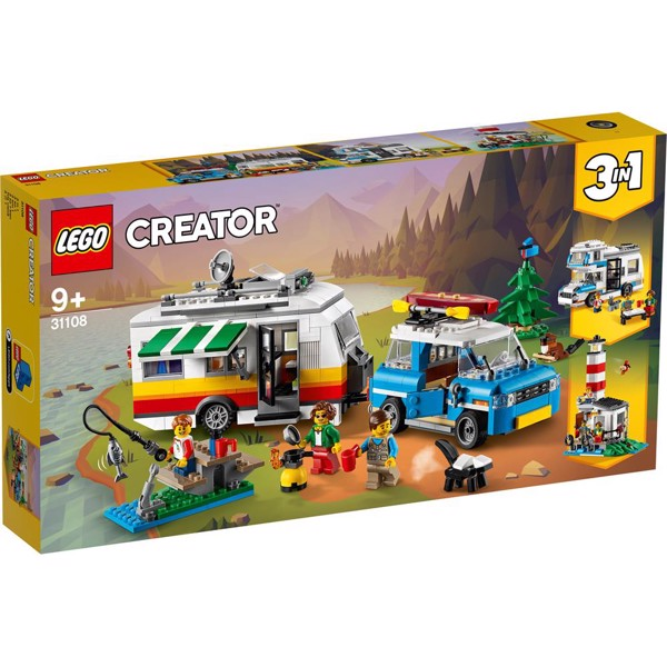 Image of Familieferie med campingvogn - 31108 - LEGO Creator (31108)