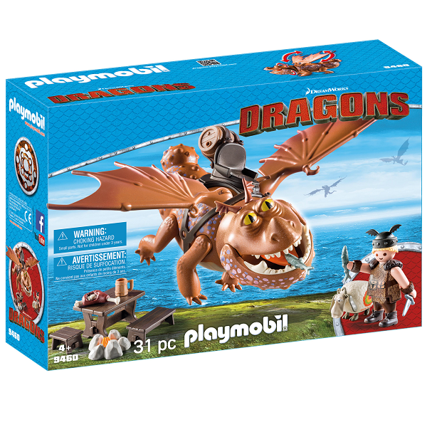 Image of Fiskeben og Fedknold - 9460 - PLAYMOBIL Dragons (PL9460)