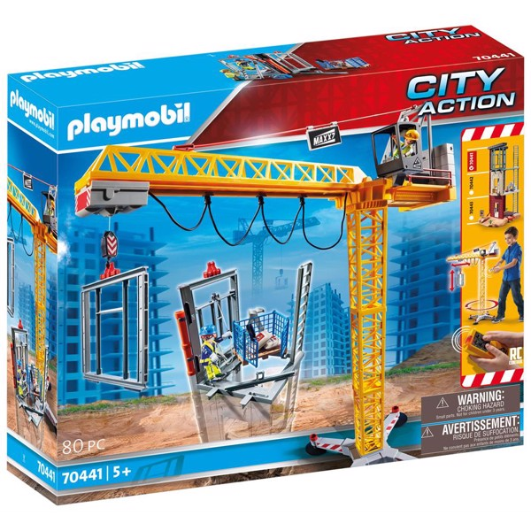 Image of Fjernstyret byggekran - PL70441 - PLAYMOBIL City Action (PL70441)
