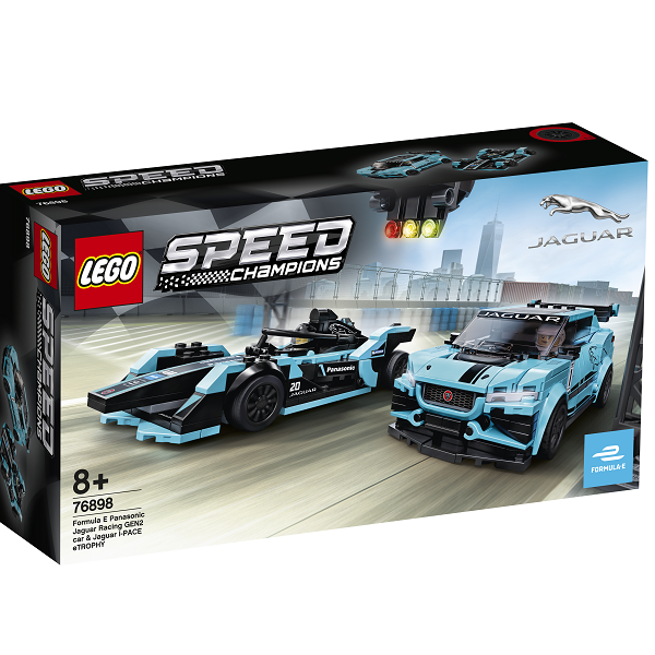Image of Formula E Panasonic Jaguar Racing GEN2-bil og Jaguar I-PACE eTROPHY - 76898 - LEGO Speed Champions (76898)