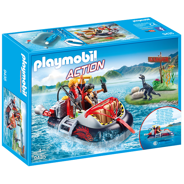 Image of Dino hoovercraft med motor - PL9435 - PLAYMOBIL Action (PL9435)