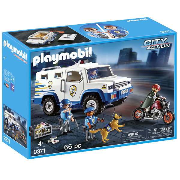 Image of   Politi-pengetransport - PL9371 - PLAYMOBIL City Action