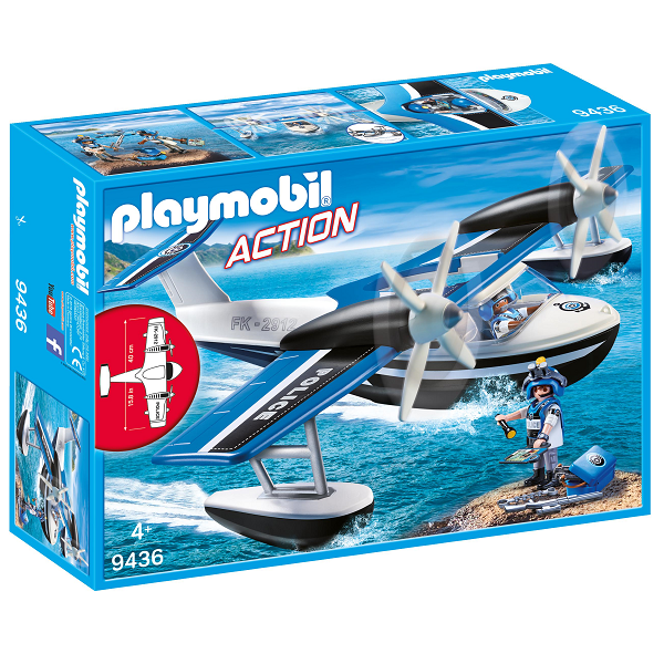 Image of Politi vandflyver - PL9436 - PLAYMOBIL Action (PL9436)
