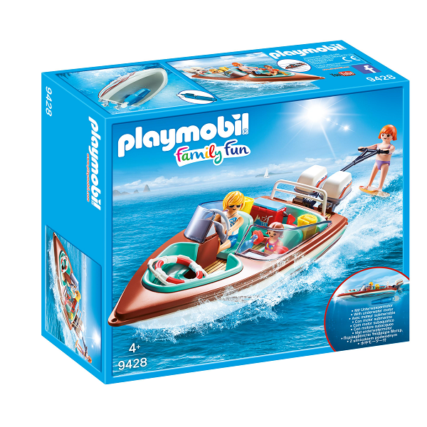 Image of Speedbåd med motor - PL9428 - PLAYMOBIL Family Fun (PL9428)