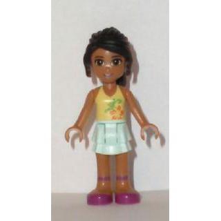 Image of   Nicole, Light Aqua Layered Skirt, Light Yellow Top