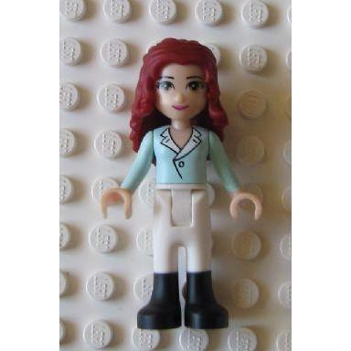 Image of   Theresa, White Riding Pants, Light Aqua Top with Collar