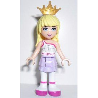 Image of   Stephanie, Lavender Skirt, White Top with Star Belt, Gold Tiara