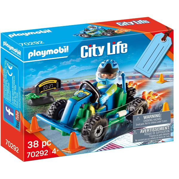 """Image of Gavesæt """"Go-kart-væddeløb"""" - PL70292 - PLAYMOBIL City Life (PL70292)"""