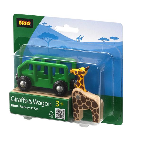 Giraf og vogn - 33724 - BRIO Tog