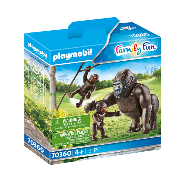 Image of Gorilla med babyer - PL70360 - PLAYMOBIL Family Fun (PL70360)