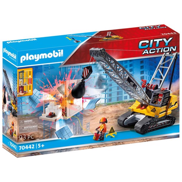 Image of Nedrivningskran - PL70442 - PLAYMOBIL City Action (PL70442)