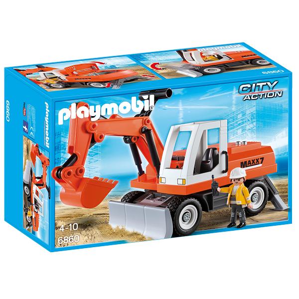Image of Gravemaskine med indstillelig grab - PL6860 - Playmobil City Action (PL6860)