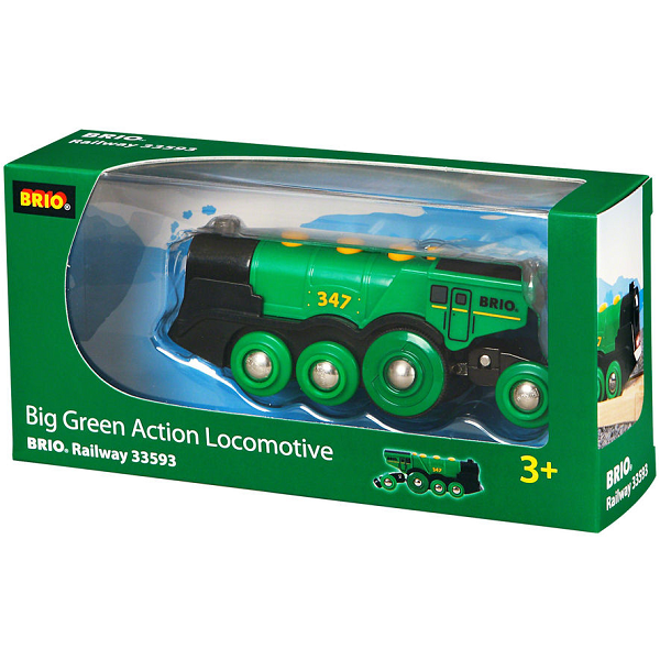 Grønt lokomotiv, batteridrevet - 33593 - BRIO Tog